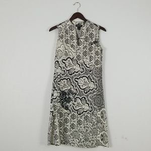 Citron sleeveless silk/linen dress size s